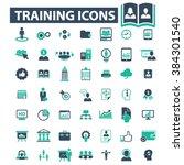 training icons  | Shutterstock .eps vector #384301540