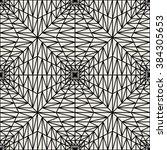 vector modern seamless geometry ... | Shutterstock .eps vector #384305653