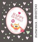 happy birthday card | Shutterstock .eps vector #384307243
