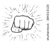 fist illustration | Shutterstock .eps vector #384313120