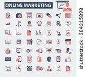 online marketing icons  | Shutterstock .eps vector #384315898