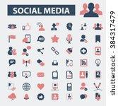 social media icons  | Shutterstock .eps vector #384317479