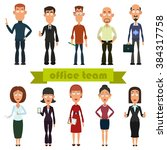 set characters for use in... | Shutterstock .eps vector #384317758