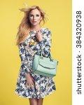 beautiful young blonde woman in ... | Shutterstock . vector #384320938