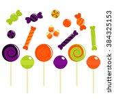 halloween kids candies and...   Shutterstock .eps vector #384325153