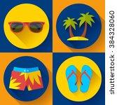vector flat icon set... | Shutterstock .eps vector #384328060