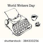World Writers Day. Typewriter ...