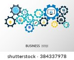 business mechanism concept  ... | Shutterstock .eps vector #384337978