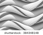 3d abstract curved lines... | Shutterstock . vector #384348148