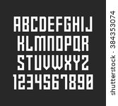 strict font. vector alphabet... | Shutterstock .eps vector #384353074