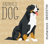 vector polygon dog concept.... | Shutterstock .eps vector #384355744