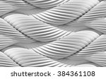 3d abstract curved lines...   Shutterstock . vector #384361108