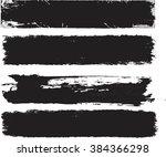 set of grunge banners .vector... | Shutterstock .eps vector #384366298