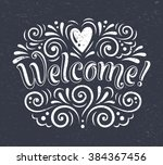 vector illustration with hand... | Shutterstock .eps vector #384367456