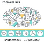 food and drinks illustration ... | Shutterstock .eps vector #384369850