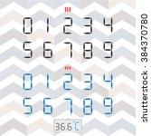 vector set of digital numbers.... | Shutterstock .eps vector #384370780