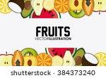 fruit icon design  | Shutterstock .eps vector #384373240
