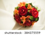 Stock photo beautiful luxury wedding bouquet of red flowers 384375559