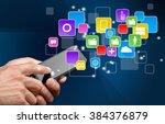 mobile phone. | Shutterstock . vector #384376879