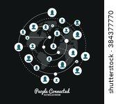 people connected design  | Shutterstock .eps vector #384377770