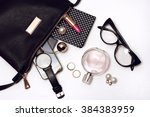 fashionable female accessories... | Shutterstock . vector #384383959