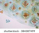 original bright background with ... | Shutterstock . vector #384387499