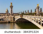 alexandre iii bridge in paris ... | Shutterstock . vector #384391324