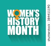 women's history month design.... | Shutterstock .eps vector #384411190