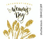 international womens day.... | Shutterstock .eps vector #384412189