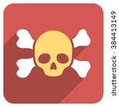 skull and bones long shadow... | Shutterstock .eps vector #384413149