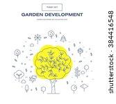 modern thin line garden icon set | Shutterstock .eps vector #384416548