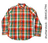 colorful checked shirt | Shutterstock . vector #384416794