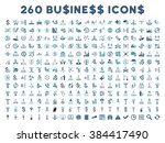 260 business glyph icons. style ... | Shutterstock . vector #384417490