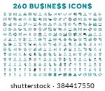 260 business glyph icons. style ... | Shutterstock . vector #384417550