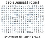 260 business glyph icons. style ... | Shutterstock . vector #384417616