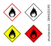flammable sign or symbol placed ... | Shutterstock .eps vector #384420190