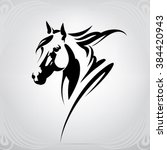 Vector Silhouette Of A Horse\'s...