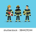 firefighters team people group...   Shutterstock .eps vector #384429244