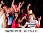 many friends gathered together... | Shutterstock . vector #38443111