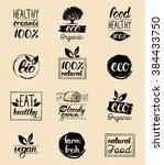 vector eco  organic  bio logos. ... | Shutterstock .eps vector #384433750