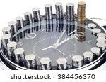 time is money and wealth.... | Shutterstock . vector #384456370