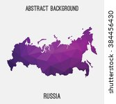 russia map in geometric... | Shutterstock .eps vector #384456430