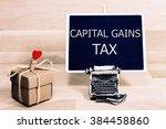sentence capital gains tax... | Shutterstock . vector #384458860