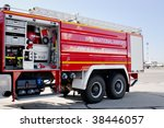 Airport Fire Truck With Opened...