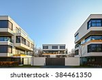facade of  new residential... | Shutterstock . vector #384461350