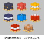 set of the metal  plastic and... | Shutterstock .eps vector #384462676