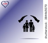 family life insurance sign icon ... | Shutterstock .eps vector #384465070