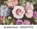 beautiful bouquet flower for... | Shutterstock . vector #384467470