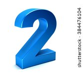 number two color blue icon | Shutterstock . vector #384476104