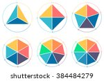 triangle  square  pentagon ... | Shutterstock .eps vector #384484279
